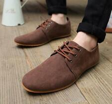 New  mens Oxford Lace Up Pointy Toe Suede leather casual low dunk Dress Shoes