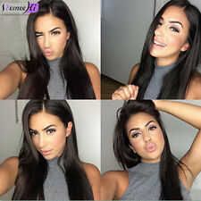 """Sexy 18"""" Brazilian Silk Straight 100% Remy Human Hair Full Head Front Lace Wig"""