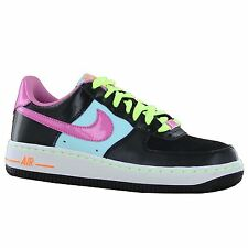 Nike Air Force 1 GS Black Multi Youths Trainers - 314219-009