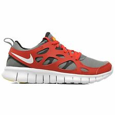 Nike Free Run 2 (GS) Grey Red Youths Trainers - 443742-601