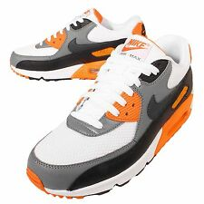 Nike Air Max 90 Essential Grey Orange NSW Mens Running Shoes Trainers 537384-128