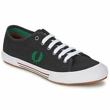 Fred Perry Vintage Tennis Canvas Black Mens Trainers - B4249-102