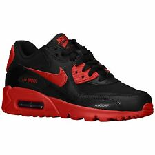 Nike Air Max 90 Black Red Youths Trainers - 307793-095