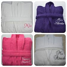 Personalised Womens Bath Robe Embroidered bathrobes Terry Towelling