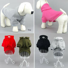 Pet Puppy Dog Cat Winter Warm Pullover Coat Sport Clothes Hoodie Sweater Apparel