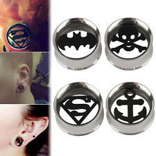 1x 6-20mm Stainless Steel Skull Anchor Flesh Tunnel Ear Plugs Expander Stretcher