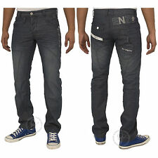 MENS BRAND NEW JEANS EZ322 IN DARK WASH COLOUR STRAIGHT FIT JEANS SIZES 28 - 42