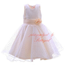 NEW Sequined Tulle Flower Girl Dress Wedding Easter Junior Bridesmaid Dresses