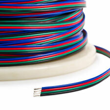 1-100m 4 Pin RGB Extension Wire Connector Cable Cord for 5050 3528 RGB LED Strip