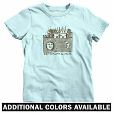 Sol y Luna Kids T-shirt - Baby Toddler Youth Tee - Moon Sun Woodcut Vintage Art