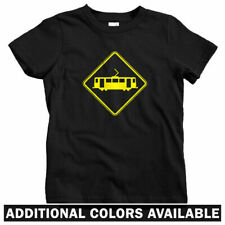 Tram Crossing T-shirt - Baby Toddler Youth Tee - Trolley Cable Car Streetcar RR