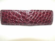 Genuine handmade Burgundy Alligator Leather Super Strong Magnetic Money Clip
