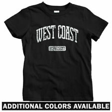 West Coast Represent Kids T-shirt - Baby Toddler Youth Tee - California WC Side