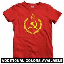 USSR Crest Kids T-shirt - Baby Toddler Youth Tee - Russia Communist CCCP Russian
