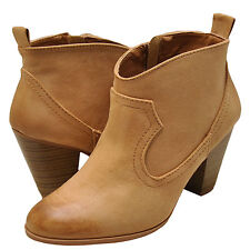 Women's Shoes Qupid Nixon 02 Western Inspired Ankle Bootie Toffee Oil Finish New