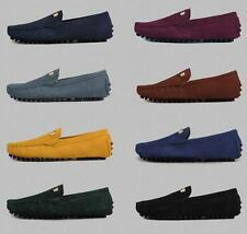 New MENS GOMMINO CASUAL SUEDE BRITISH SLIP ON LOAFERS MOCCASINS DRIVING SHOES