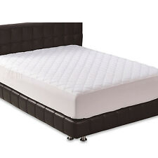 Fitted Deep Mattress Pad Quilted Superior Bed Cover Comfort Durable Protector