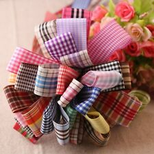 Wholesale Polyester Specialty Gingham Ribbons ~ Many Colors 9mm 15mm 25mm 38mm