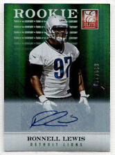 2012 Panini Elite RONELL LEWIS Turn of the Century RC Auto /599 Lions #144
