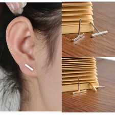 2pcs Women Simple Tiny Bar fashionable Earrings Stud Cute Bar Earring Stud Punk