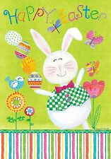JUGGLING BUNNY HAPPY EASTER HOUSE OR GARDEN FLAG OR MAGNETIC MAILBOX COVER