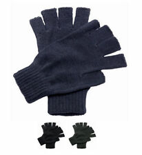 Mens Regatta Fingerless Gloves - Mitts Knitted Knit Half Finger Warm Wooly