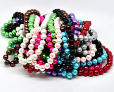 50 x  Glass Pearl 10mm Round Beads Jewellery Making UK Seller Various Colours