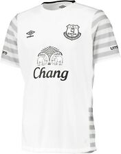 EVERTON WHITE 2015/16 (M,L,XL,2XL) AWAY S/SLV UMBRO SOCCER FOOTBALL SHIRT JERSEY