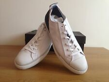 Mens Converse Lucky OX White Navy Leather Trainers Free & Fast SHIPPING