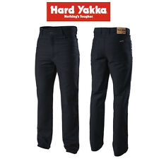 Mens Hard Yakka Jeans Foundations Moleskin Denim Navy 460gsm Workwear Y03875