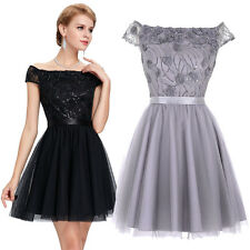 Short Tulle Sequin Bridesmaid Prom Cocktail Evening Party Homecoming Gown Dress
