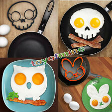 Breakfast Fried Egg Mold Silicone Pancake Egg Ring Shaper Funny Cooking Tool LO