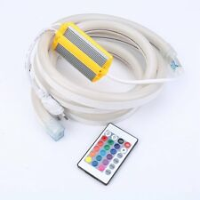 220V Flex LED Neon Rope Light 2835 5050 120leds/m White RGB 1m 5m 10m 20m 50m