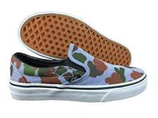 VANS. Classic Slip On. Black / White / Camo Blue Shoe. Mens US Size 3.5.
