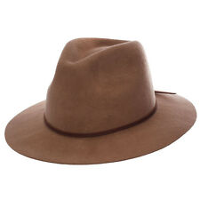 New Brixton Wesley Fedora in Brown | headwear Womens Headwear Womens Hats