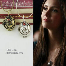 The Vampire Diaries Inspired Elena's Vervain Necklace Solid Locket Pendant