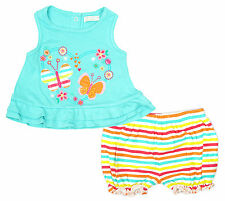 Girls Top Vest Shorts Nappy Butterfly Babaluno Outfit Newborn Baby - 12 Months