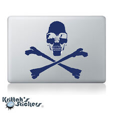 Jolly Roger Pirate Skull with Crossed Bones Vinyl Decal - fits laptop +more K011