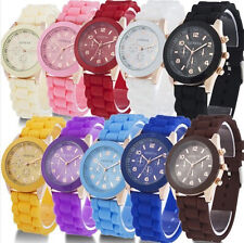 Fashion Hot Geneva Watch Silicone Quartz Unisex Fruit Jelly Wrist Watch as Gifts