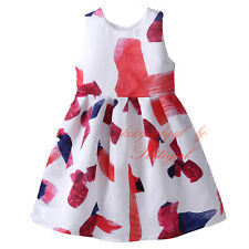 Baby Girls Summer Dress Princess Pageant Prom Sleeveless Flower Girl Sundresses