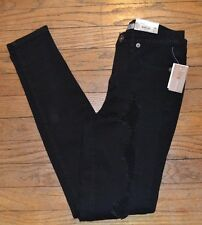 Mudd Distressed Destructed Juniors Skinny Jeans High Rise Black Denim Jean Sz 3
