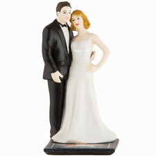 Hollywood Glamour Bride and Groom Wedding Cake Topper Custom