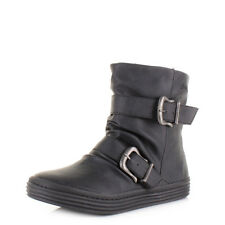 Womens Ladies Blowfish Octave Black Texas Comfort Flat Casual Ankle Boot Sz Size