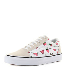 Womens Vans Old Skool Stawberries White Suede Canvas Trainers Shoes Sz Size