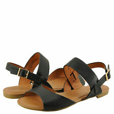 Women's Shoes Bamboo Candice 69M D'Orsay Slingback Sandal Black CRP *New*