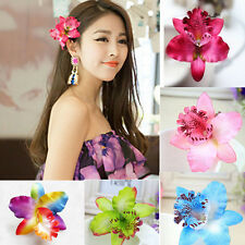 New Orchid Flower Hair Clip Hairpin Barrette Hair Accessory Wedding Bridal Party