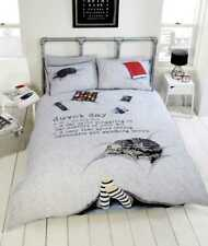 Duvet Day / Lazy day Cosy 3D Photographic Grey Duvet Quilt Cover Bedding Set