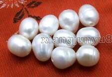 SALE Wholesale 10 pieces 10-11mm White Rice or drop Natural 2mm hole pearl-lo644
