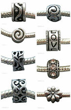 Silver Tone Spacer Charm fits European Bracelet *Buy any 3 charms get 4th Free*