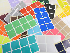 26mm Square (1 Inch) Colour Code Stickers Coloured Sticky Labels - 28 Colours
